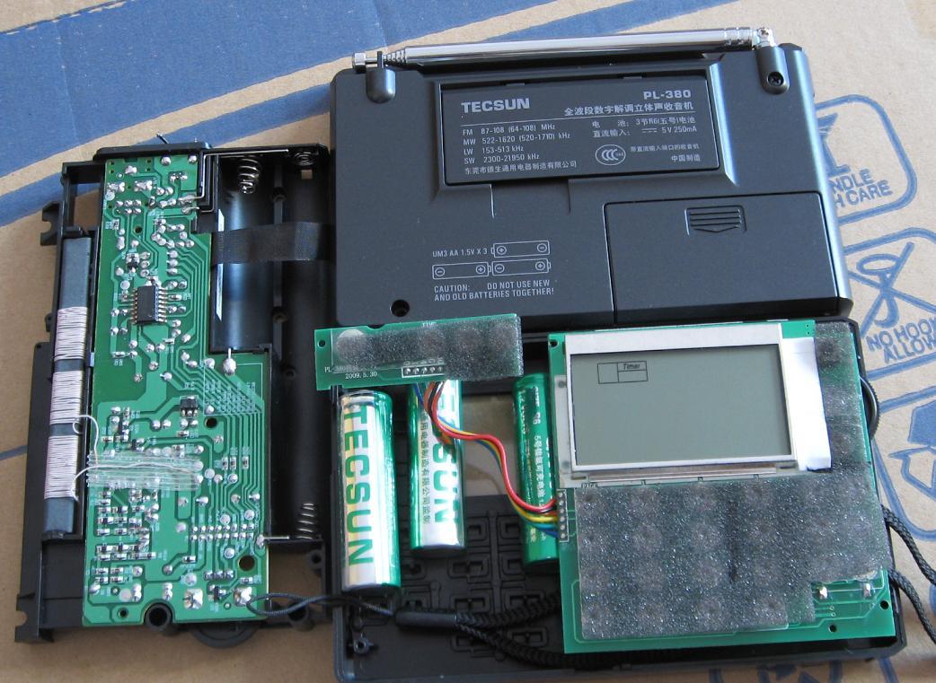 qq308收音机电路板
